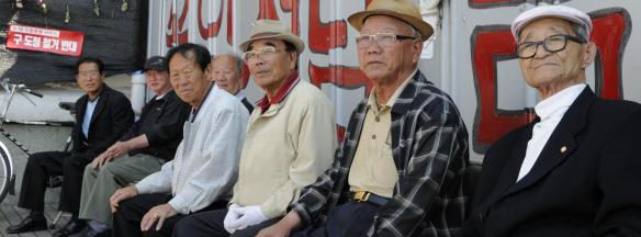 Veteranen des Gwangju-Aufstands von 1980_Gwangju_2009